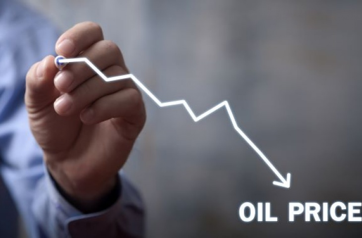 Depiction of oil price decline